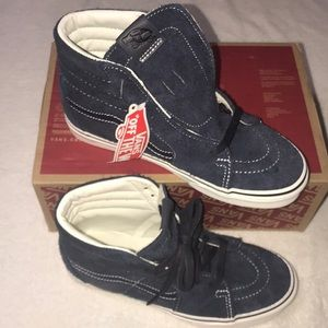 💙 UNISEX NEW SK8 HIGH TOP HAIRY SUEDE SKY CAPTAIN